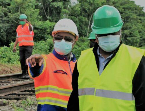 Visite du Ministre des Transports sur les chantiers des zones instables